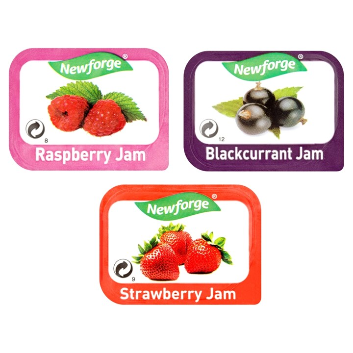 NEWFORGE ASSORTED JAM 20G PORTION PACKS