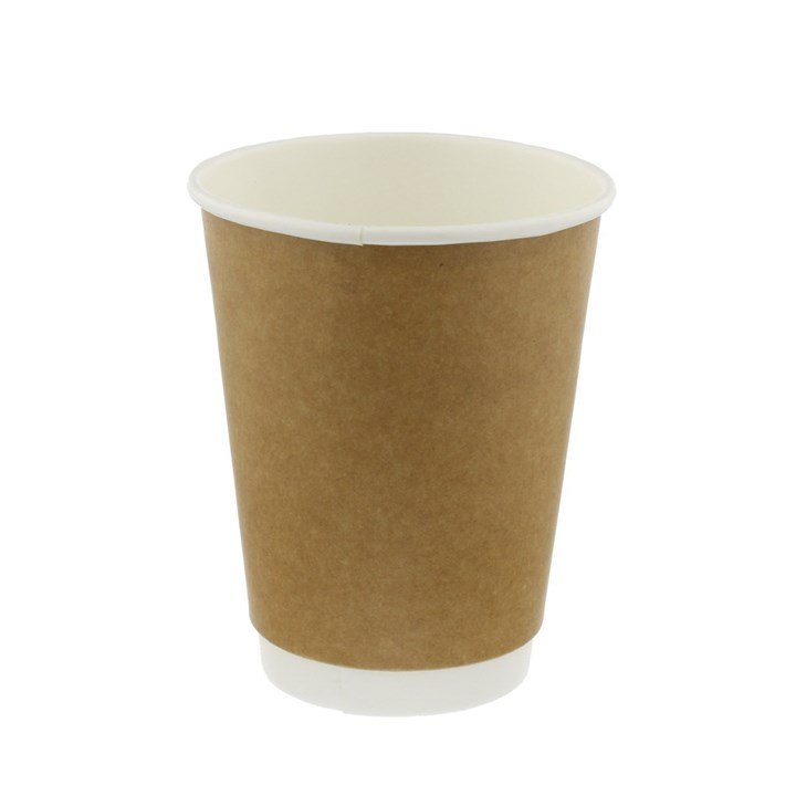 12OZ KRAFT DOUBLE WALL DISPOSABLE DISPOSABLE COFFEE CUPS