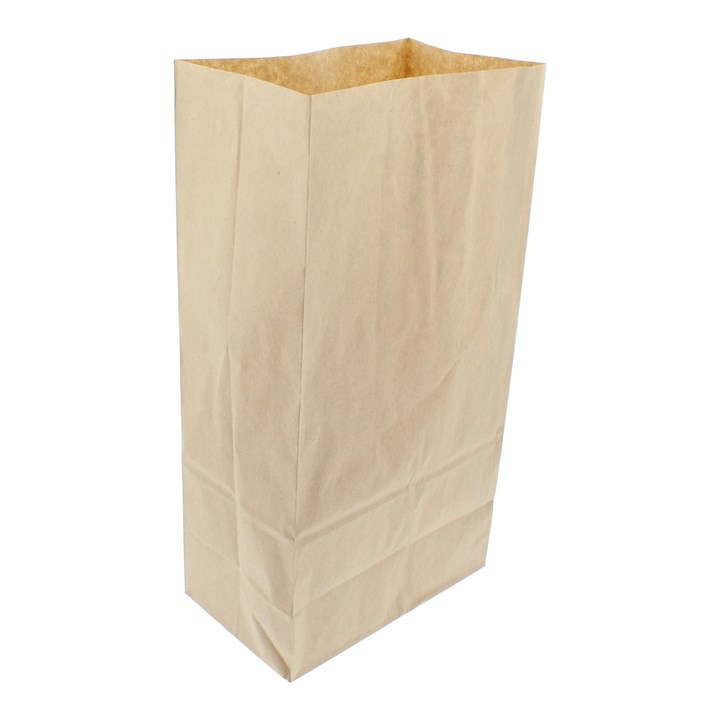 BROWN KRAFT PAPER SOS BAG 16x12.5x6.5 INCH