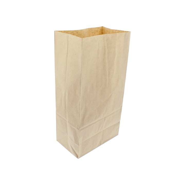 BROWN KRAFT PAPER SOS BAG 5 X 8.5 X 9.75 INCH