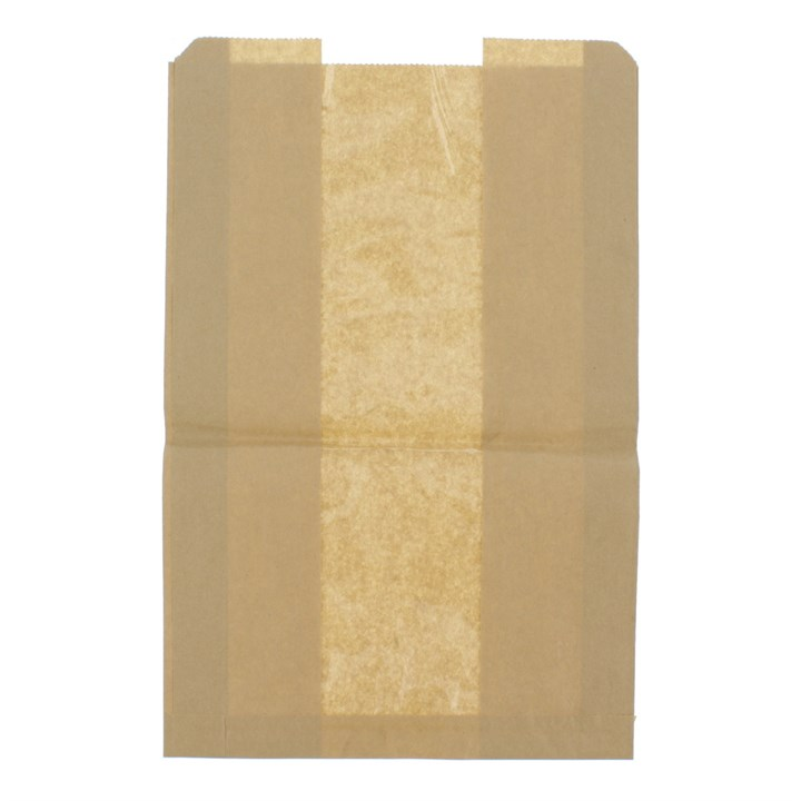 KRAFT BAG STRUNG WITH WINDOW 270 X 60 X 420MM  37GSM