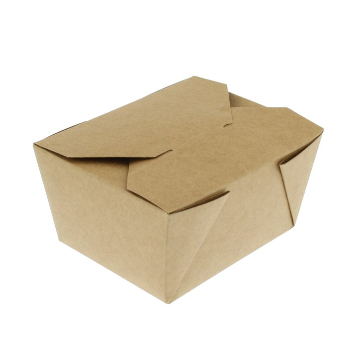 NO. 1 750ML LEAF LEAKPROOF BROWN KRAFT FOOD BOXES