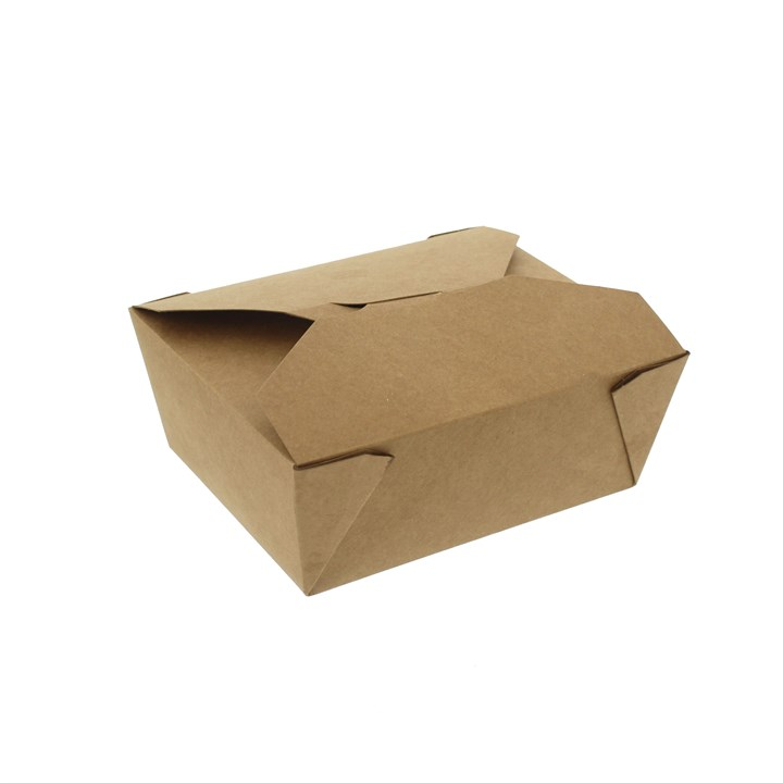 NO. 2 1400ML LEAF LEAKPROOF BROWN KRAFT FOOD BOXES