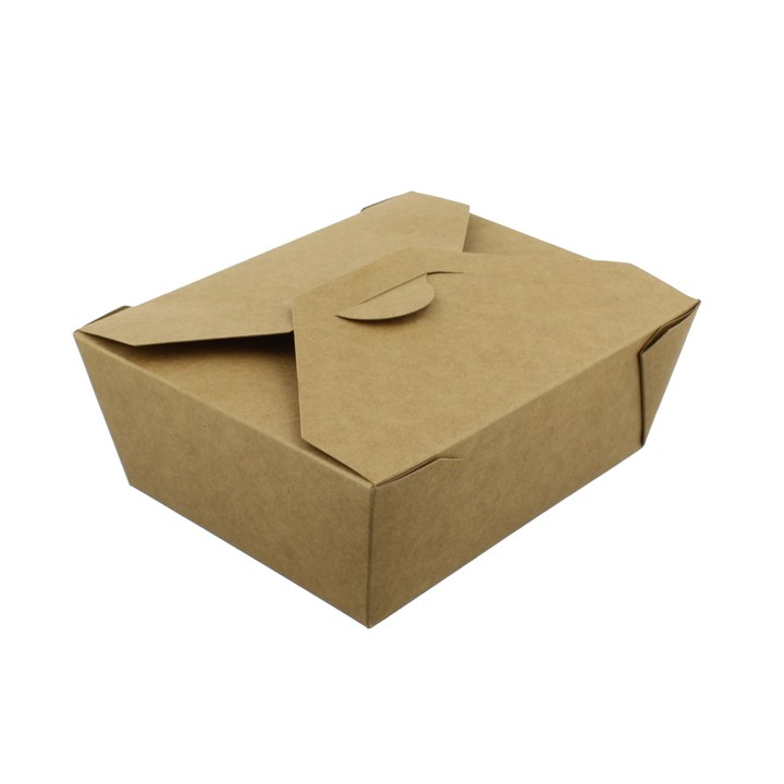 NO. 8 1000ML LEAF LEAKPROOF BROWN KRAFT FOOD BOXES