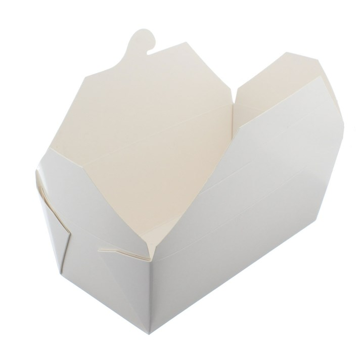 NO.9 1400ML LEAF LEAKPROOF WHITE KRAFT FOOD BOXES
