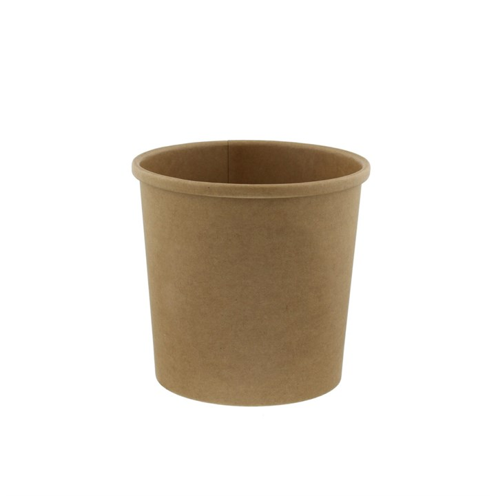 12Oz Leaf Kraft Biodegradable Soup Cup & Lid