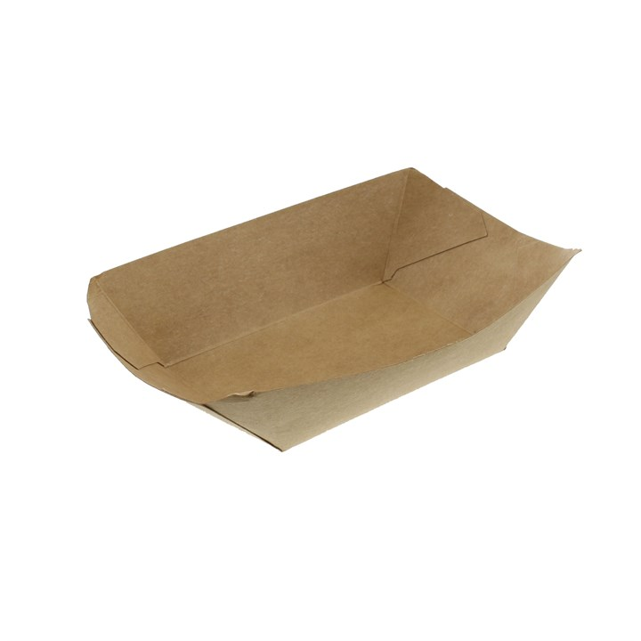 BROWN KRAFT 2LB LEAF FOOD CHIP TRAYS