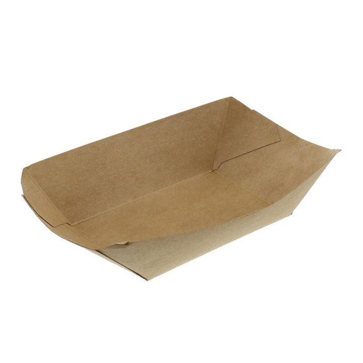 BROWN KRAFT 2.5LB LEAF STREET FOOD CHIP TRAYS