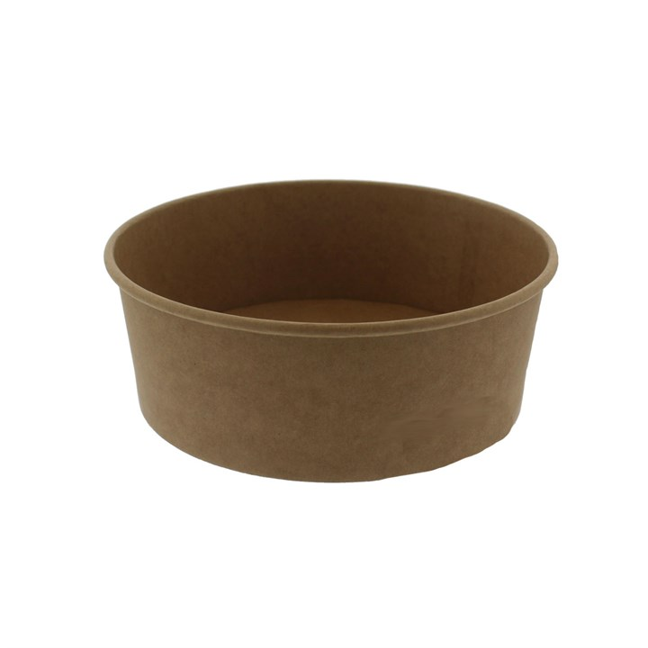 LEAF 1300ML KRAFT DISPOSABLE SALAD BOWL