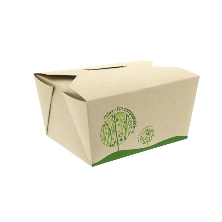 LEAF BAMBOO COMPOSTABLE FOOD BOX