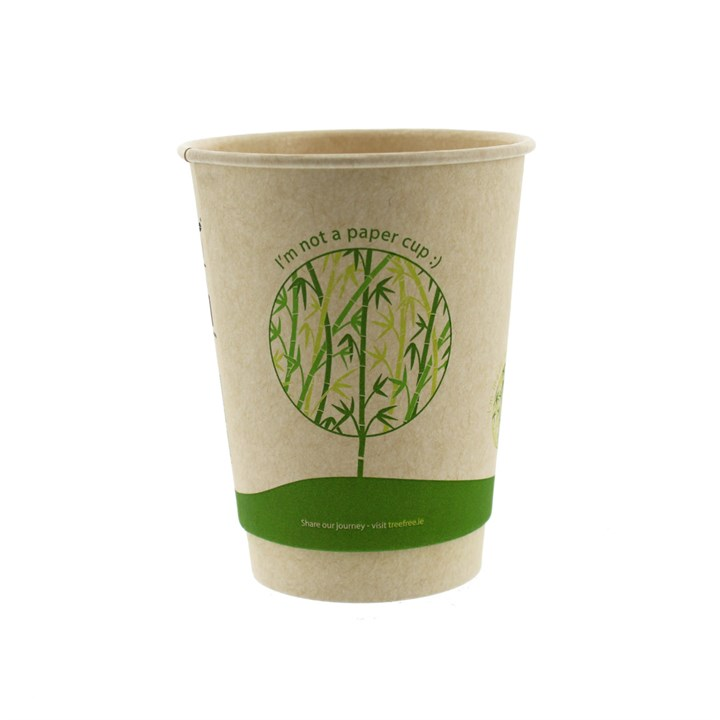 12OZ TREEFREE SUGARCANE DISPOSABLE COFFEE CUPS