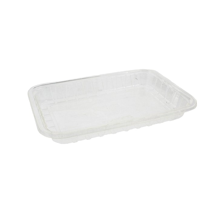 CLEAR COMPOSTABLE PLA TRAY 191 X 132 X 22MM