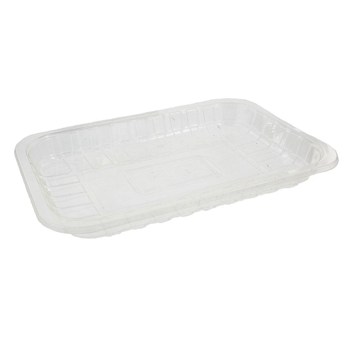 CLEAR COMPOSTABLE PLA TRAYS 230 X 157 X 23MM