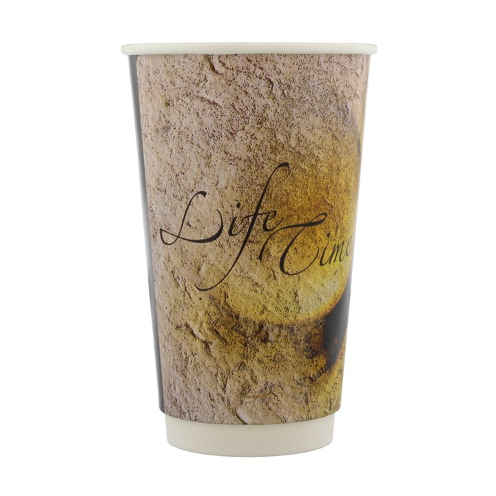 16OZ LIFETIME DOUBLE WALL DISPOSABLE COFFEE CUPS