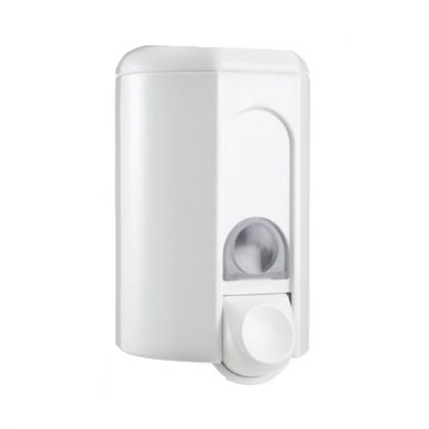 WHITE WALL MOUNTED HAND SOAP DISPENSER WITH LOCK 1.1 LITRE