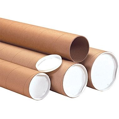 813 X 64MM CARDBOARD POSTAL TUBES WITH END PLUGS