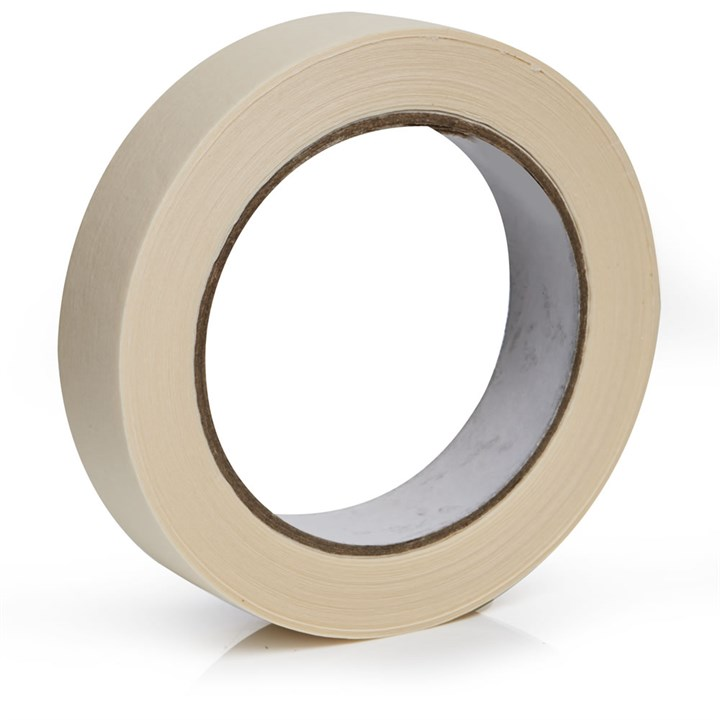 OLYMPIA WHITE MASKING TAPE 24MM X 50M ROLL