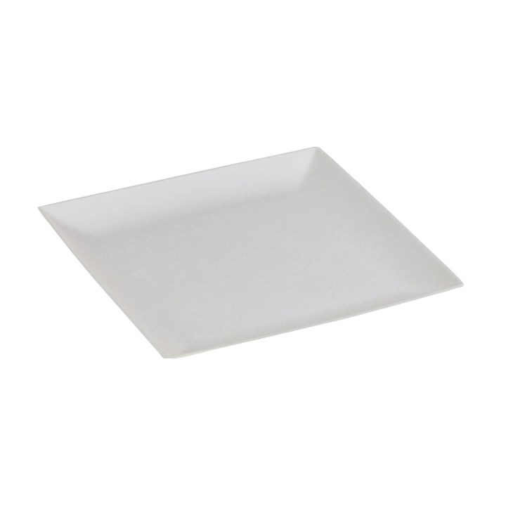 NATURESSE SUGARCANE COMPOSTABLE DISPOSABLE KOMODO SQUARE PLATE 180 X 180MM