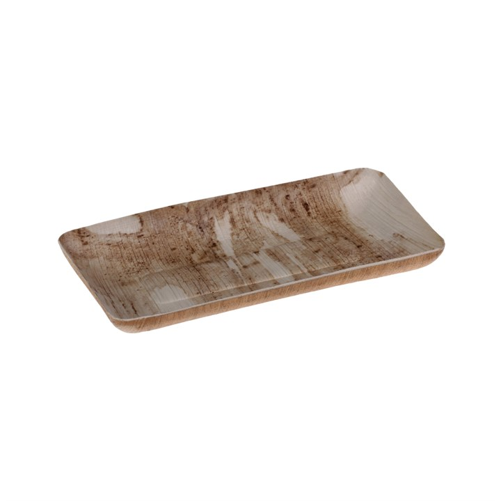NATURESSE PALM LEAF COMPOSTABLE DISPOSABLE TRAY 18 X 9 X 2CM