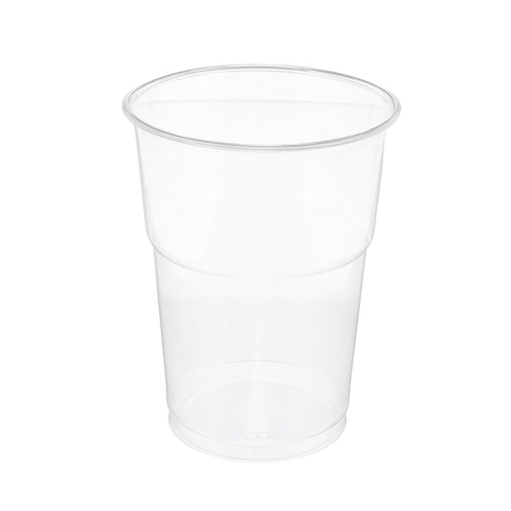 DISPOSABLE PLASTIC PINT GLASSES FULLY RECYCLABLE