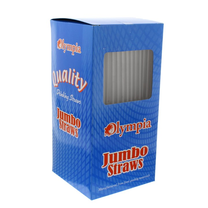 OLYMPIA JUMBO STRAIGHT CLEAR STRAWS - PACK OF 500