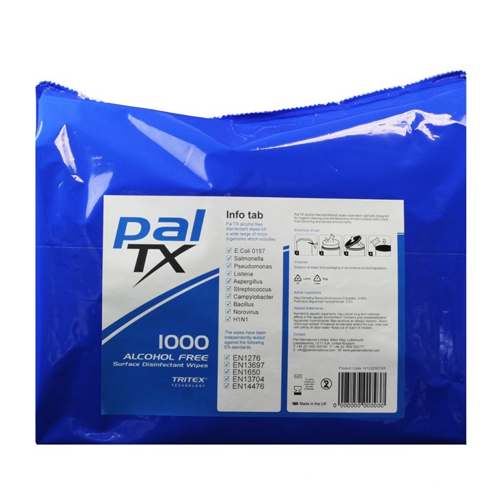 PAL TX ALCOHOL FREE LARGE WIPES 1000 REFILL