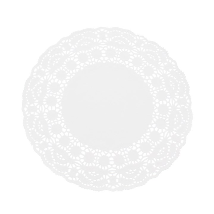 ROUND WHITE PAPER DOYLEYS 5.5 INCH