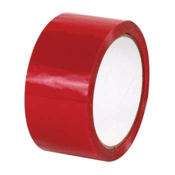OLYMPIA RED ACRYLIC TAPE 48MM X 132M ROLL