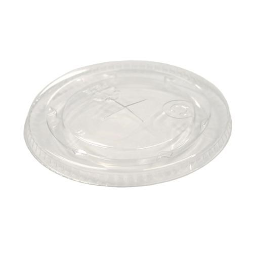 9/10 FLAT PLASTIC LID WITH A STRAW SLOT YLP10C