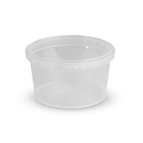 180ml Clear Plastic Ring Lock Container & Lid