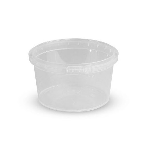 670ML CLEAR PLASTIC RING LOCK CONTAINER  LID