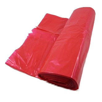 26 X 44 INCH RED HEAVY DUTY REFUSE SACKS MADE FROM CO-EX 40MU