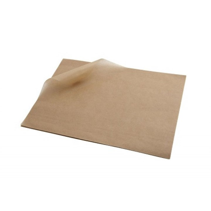 PLAIN BROWN PURE GREASEPROOF PAPER SHEETS 18 X 28 INCH 32GSM