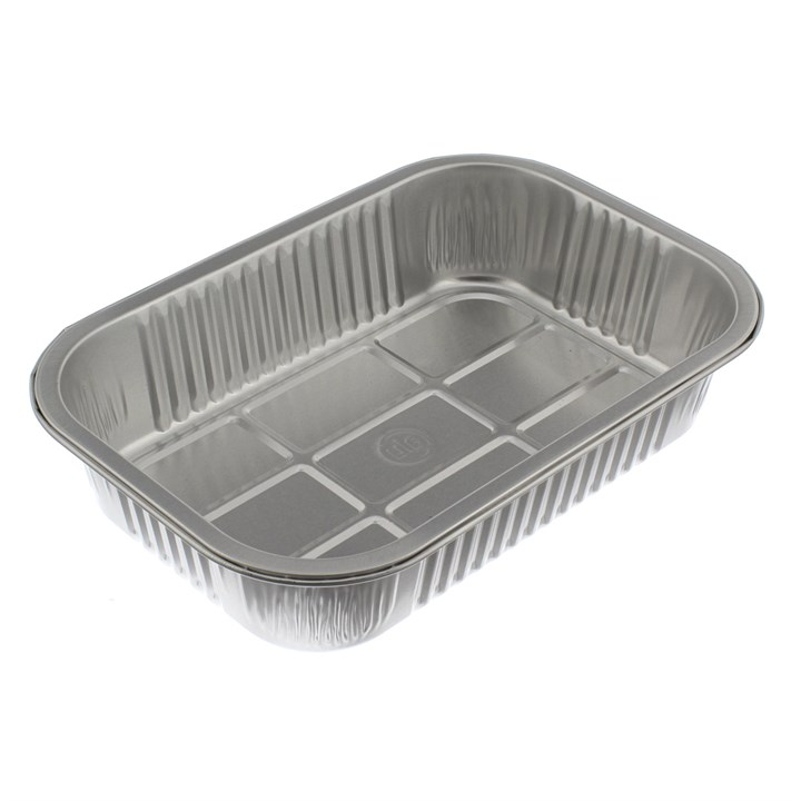 SMOOTHWALL ALUMINIUM FOIL TRAYS 178 X 136 X 45MM