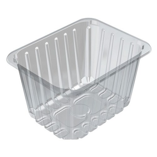 D2/120 PADDED CLEAR FOOD TRAY 196 X 154 X 120MM