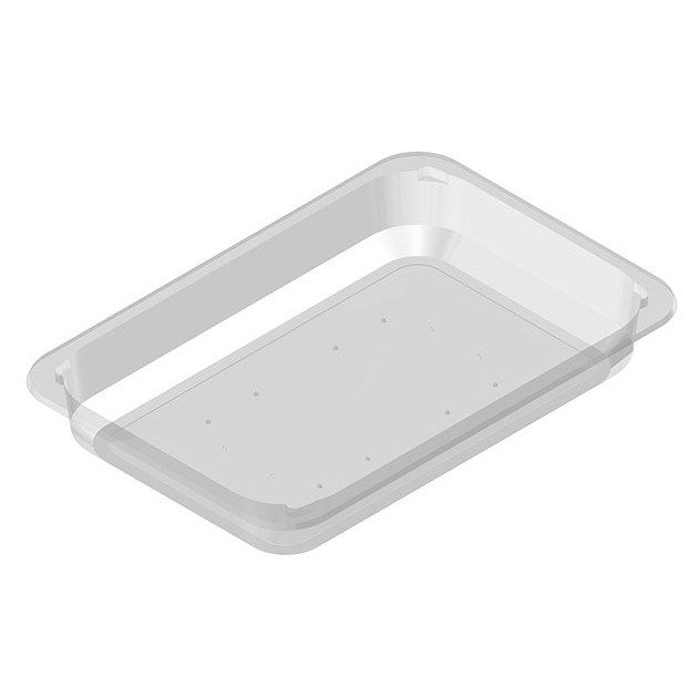 D15/37 PADDEDCLEAR FOOD TRAY 260 X 177 X 37MM
