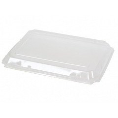 SQUARE PLASTIC LID FOR 950ML 32OZ PULP BOWL PUL51901