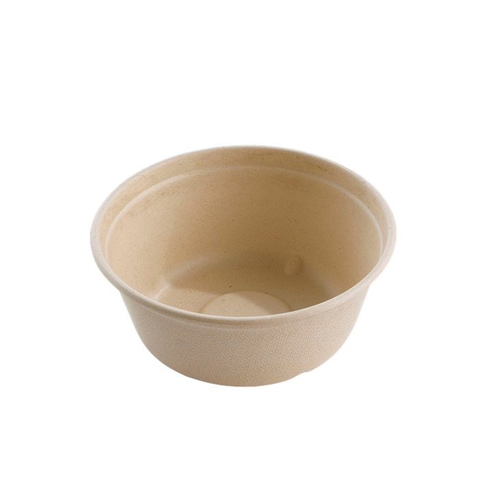 500ML COMPOSTABLE ROUND PULP BOWL