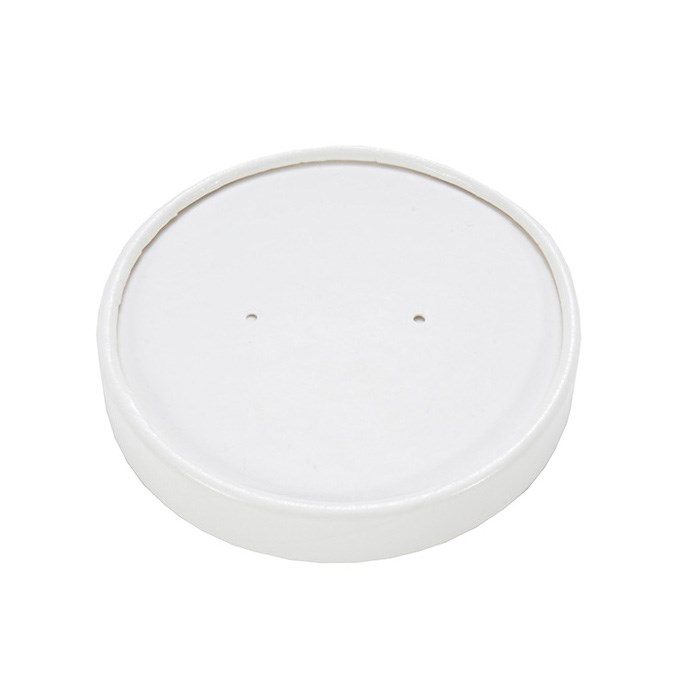 26OZ HEAVY DUTY WHITE PAPER SOUP CUP LID