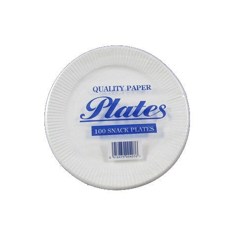 7 INCH DISPOSABLE WHITE PAPER PLATES