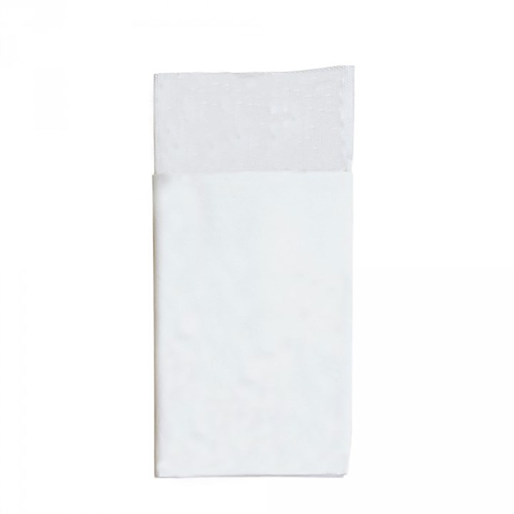 White Cutlery Pocket 40 X 40cm