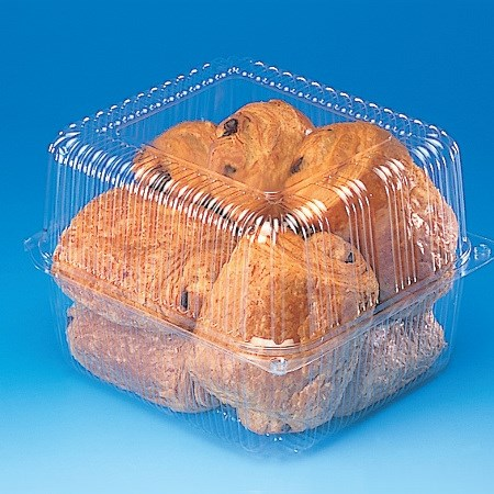 TOUTIPACK 238 X 205 SQUARE HINGED V LARGE CUPCAKE CONTAINER