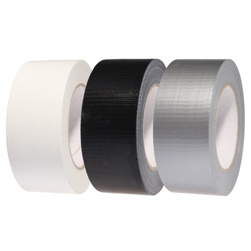 BLACK OLYMPIA HIGHTAC WATERPROOF DUCT TAPE 50MM X 50M ROLL