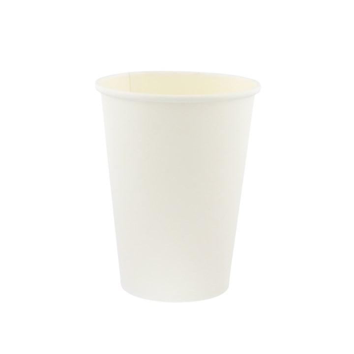 8OZ WHITE SINGLE WALL DISPOSABLE COFFEE CUPS