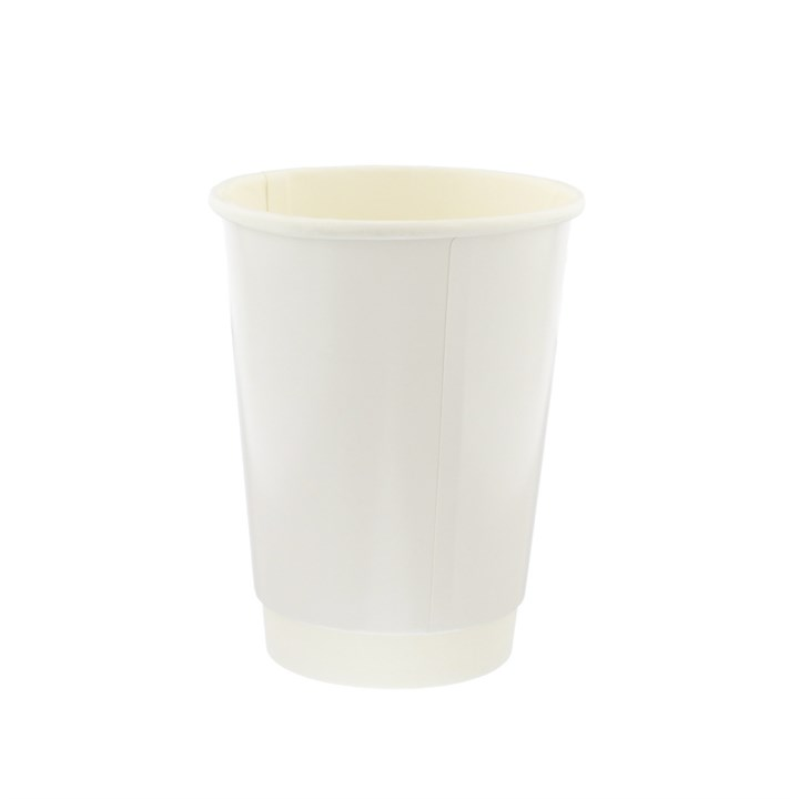 8OZ WHITE DOUBLE WALL DISPOSABLE COFFEE CUPS
