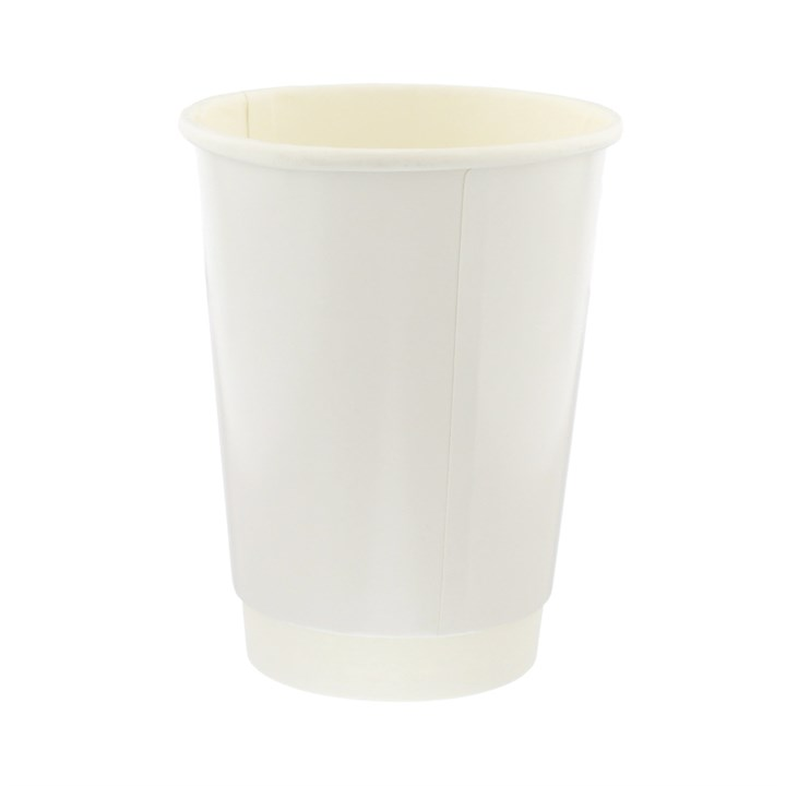 16Oz White Double Wall Disposable Coffee Cups