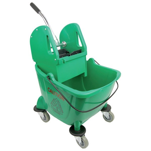 GREEN 25L BUFFALO KENTUKY MOP BUCKET AND WRINGER SET