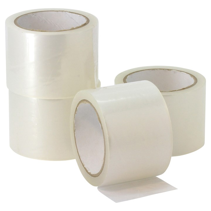 OLYMPIA CLEAR ACRYLIC POLYPROPYLENE TAPE 48MM X 990M ROLL