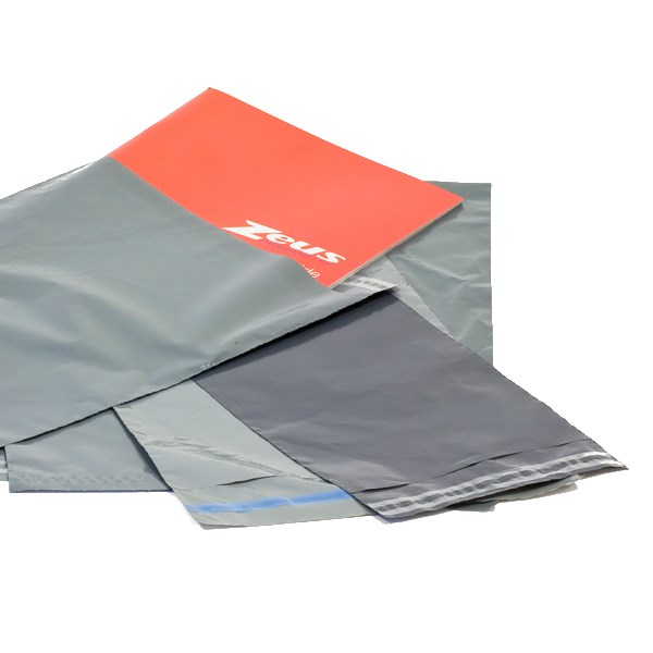 250 X 350MM WITH 40MM SELF SEAL LIP GREY OPAQUE POLYTHENE MAILER BAG CODE C