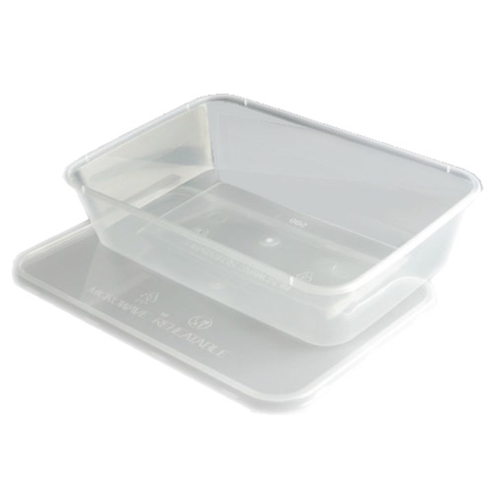 650CC PLASTIC TAKEAWAY MICROWAVABLE FOOD CONTAINER BOX WITH LID